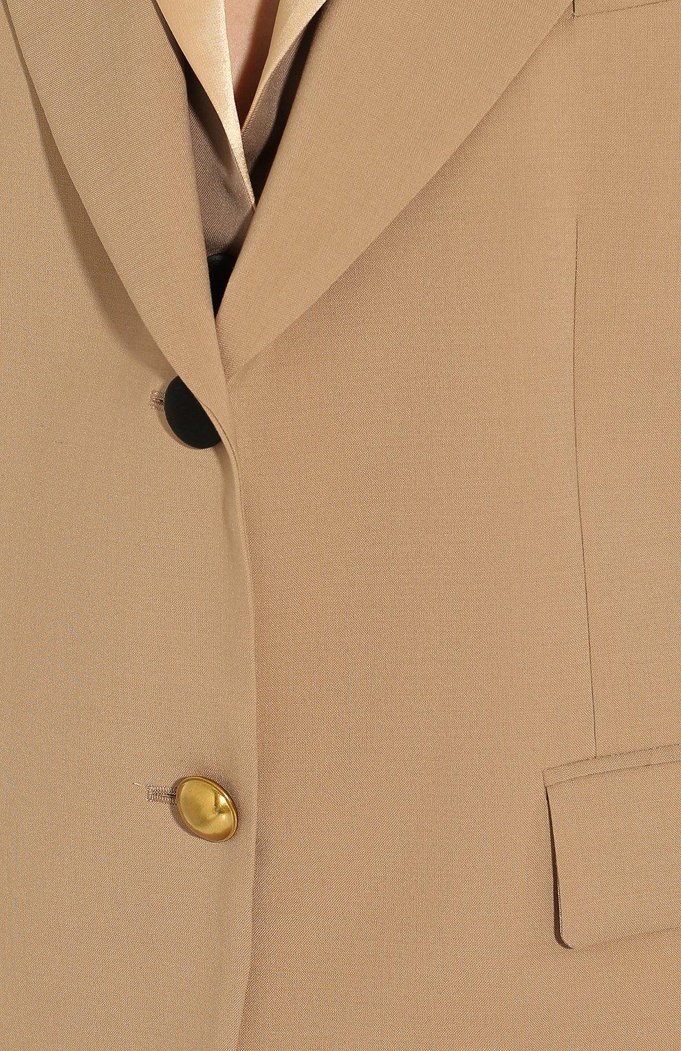 Женский жакет SACAI бежевого цвета, арт. 20-04818   Фото 5