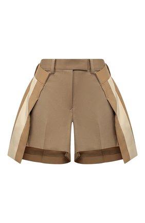 Женские шорты SACAI бежевого цвета, арт. 20-04825   Фото 1