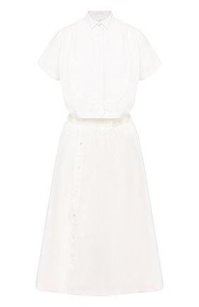Женское платье SACAI белого цвета, арт. 20-04882 | Фото 1