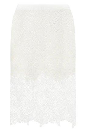 Женская юбка SACAI белого цвета, арт. 20-04941 | Фото 1
