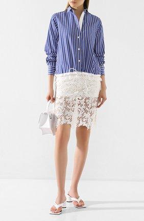 Женская юбка SACAI белого цвета, арт. 20-04941 | Фото 2