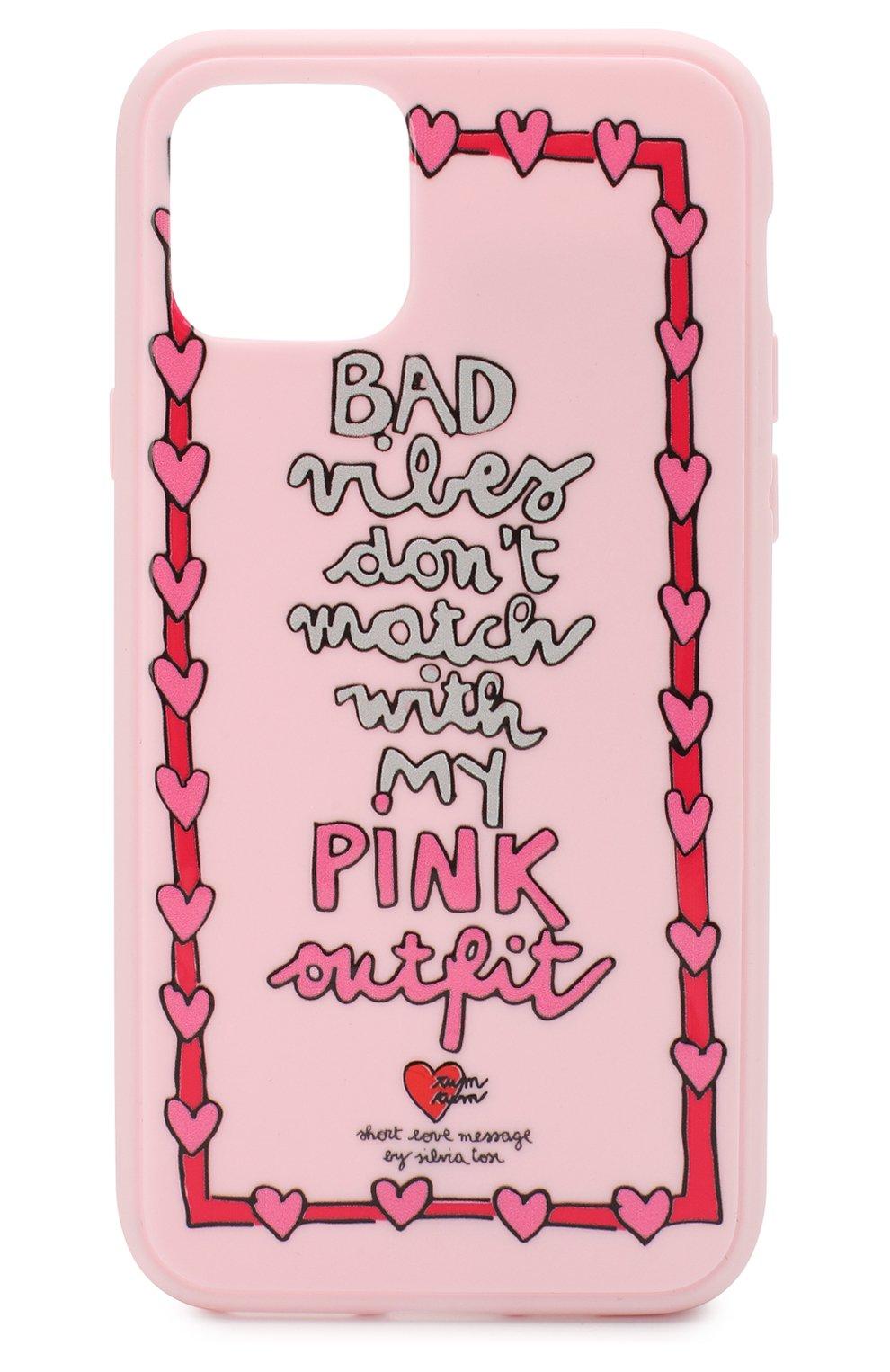 Мужской чехол для iphone 11 pro BENJAMINS розового цвета, арт. ST1958-3DPINK   Фото 1