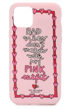 Мужской чехол для iphone 11 pro BENJAMINS розового цвета, арт. ST1958-3DPINK | Фото 1