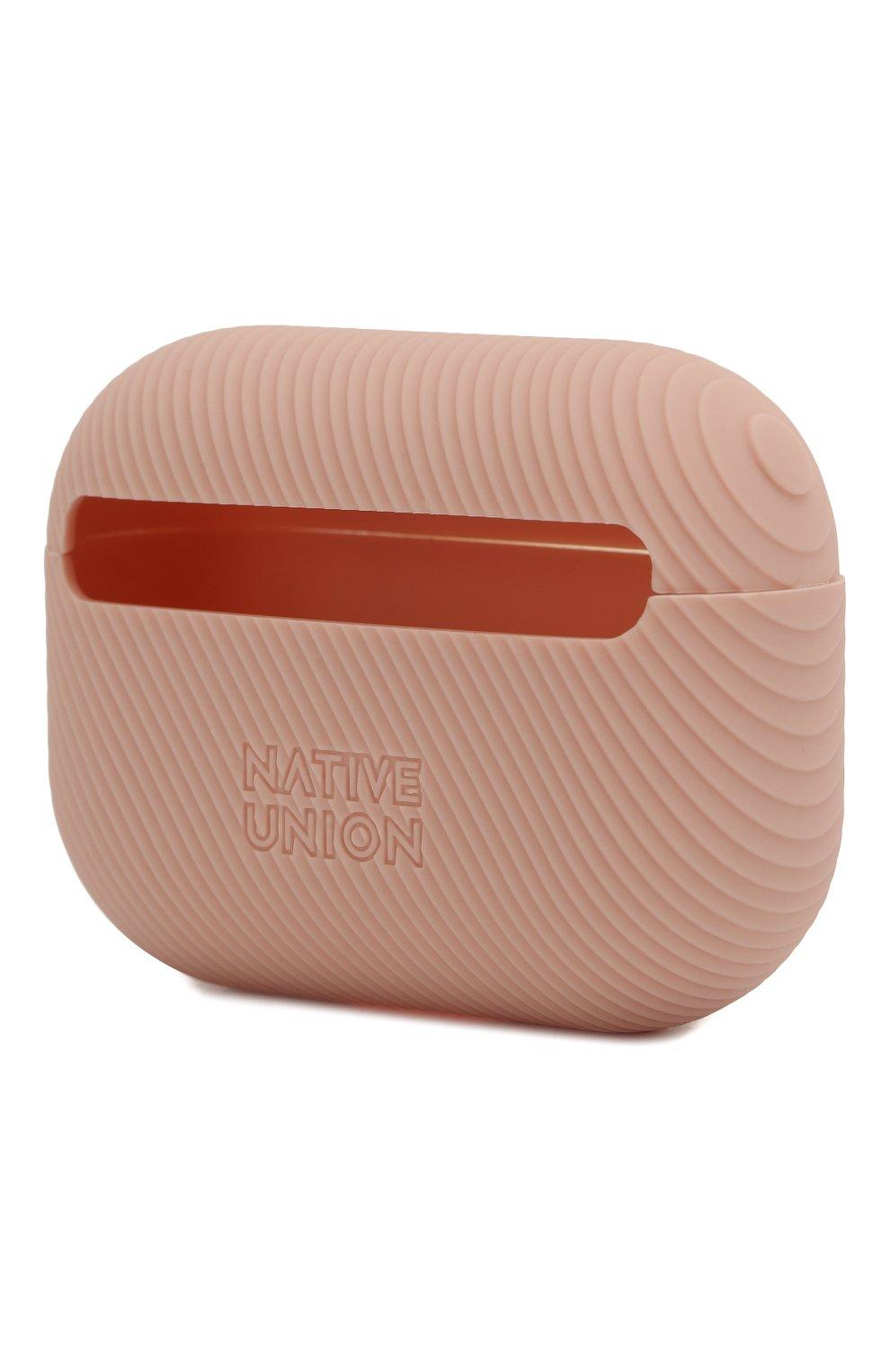 Мужской чехол для airpods pro NATIVE UNION розового цвета, арт. APPRO-CRVE-ROS | Фото 2