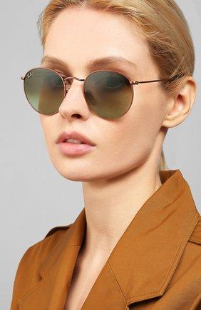 Женские солнцезащитные очки RAY-BAN темно-зеленого цвета, арт. 3447-9002A6 | Фото 2