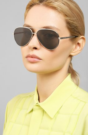 Мужские солнцезащитные очки SAINT LAURENT серебряного цвета, арт. CLASSIC 11 ZER0 001 | Фото 2