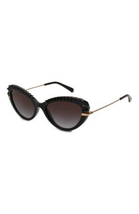 Женские солнцезащитные очки DOLCE & GABBANA черного цвета, арт. 6133-501/8G | Фото 1