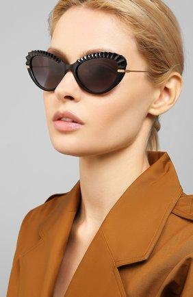 Женские солнцезащитные очки DOLCE & GABBANA черного цвета, арт. 6133-501/8G | Фото 2