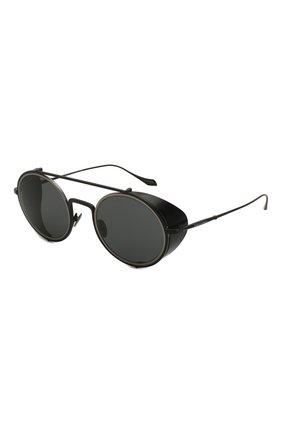 Мужские солнцезащитные очки GIORGIO ARMANI черного цвета, арт. 6098-300187 | Фото 1