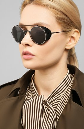 Женские солнцезащитные очки GIORGIO ARMANI черного цвета, арт. 6098-300187 | Фото 2