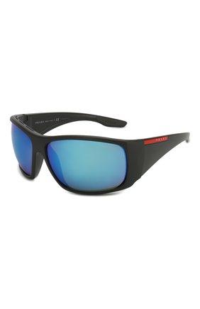 Женские солнцезащитные очки PRADA LINEA ROSSA черного цвета, арт. 04VS-0AS5M2   Фото 1