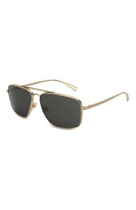 Мужские солнцезащитные очки VERSACE черного цвета, арт. 2216-100287 | Фото 1
