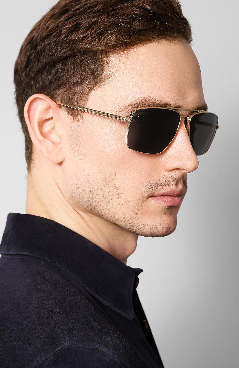Женские солнцезащитные очки VERSACE черного цвета, арт. 2216-100287 | Фото 3
