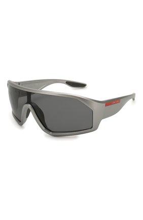 Женские солнцезащитные очки PRADA LINEA ROSSA серого цвета, арт. 03VS-5735Z1   Фото 1