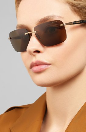 Женские солнцезащитные очки CHOPARD коричневого цвета, арт. C27 H18P | Фото 2