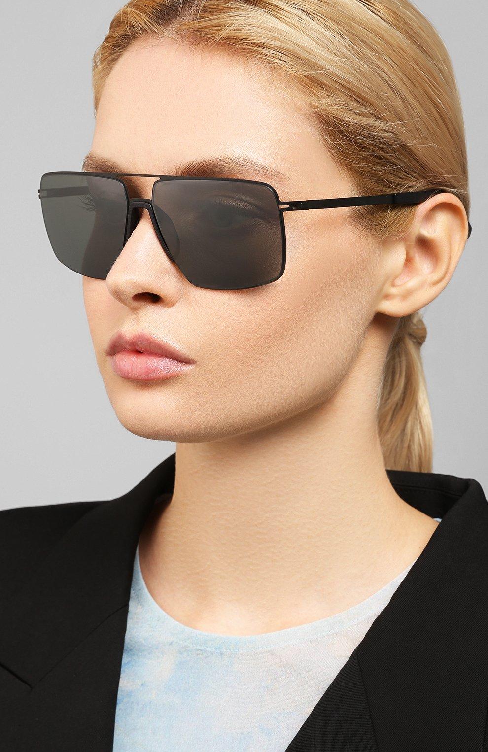 Женские солнцезащитные очки MYKITA MYLON черного цвета, арт. L0TUS/243 | Фото 2