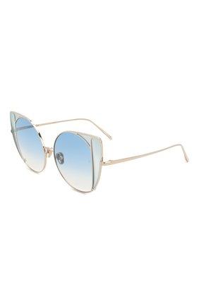 Мужские солнцезащитные очки LINDA FARROW голубого цвета, арт. LFL854C7 SUN | Фото 1