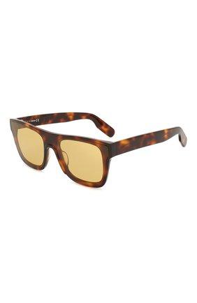 Мужские солнцезащитные очки KENZO коричневого цвета, арт. KZ40018U 52E | Фото 1