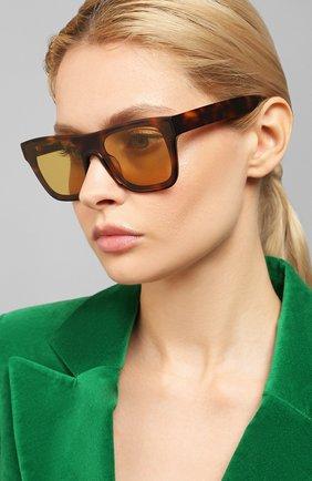 Мужские солнцезащитные очки KENZO коричневого цвета, арт. KZ40018U 52E | Фото 2