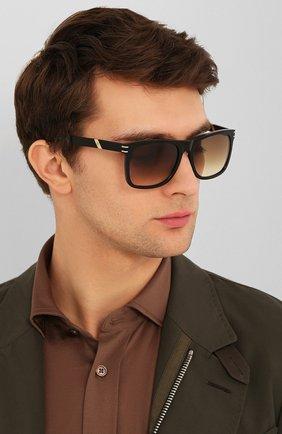 Мужские солнцезащитные очки S.T. DUPONT коричневого цвета, арт. 6014/01 | Фото 2