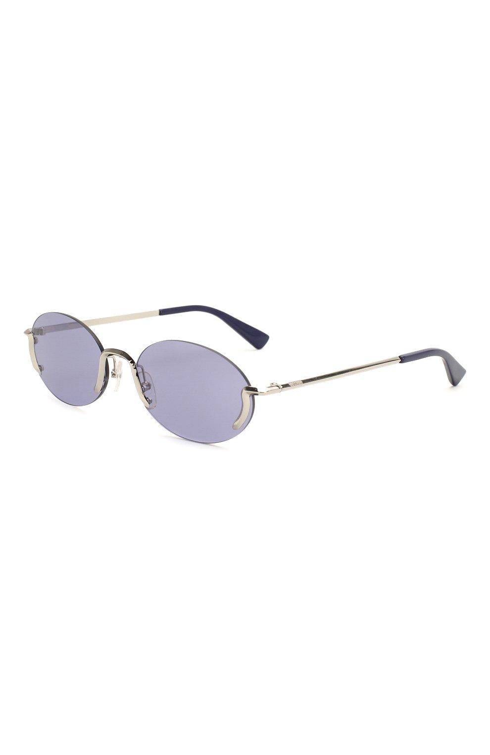Женские солнцезащитные очки MOSCHINO синего цвета, арт. M0S055 SCB | Фото 1