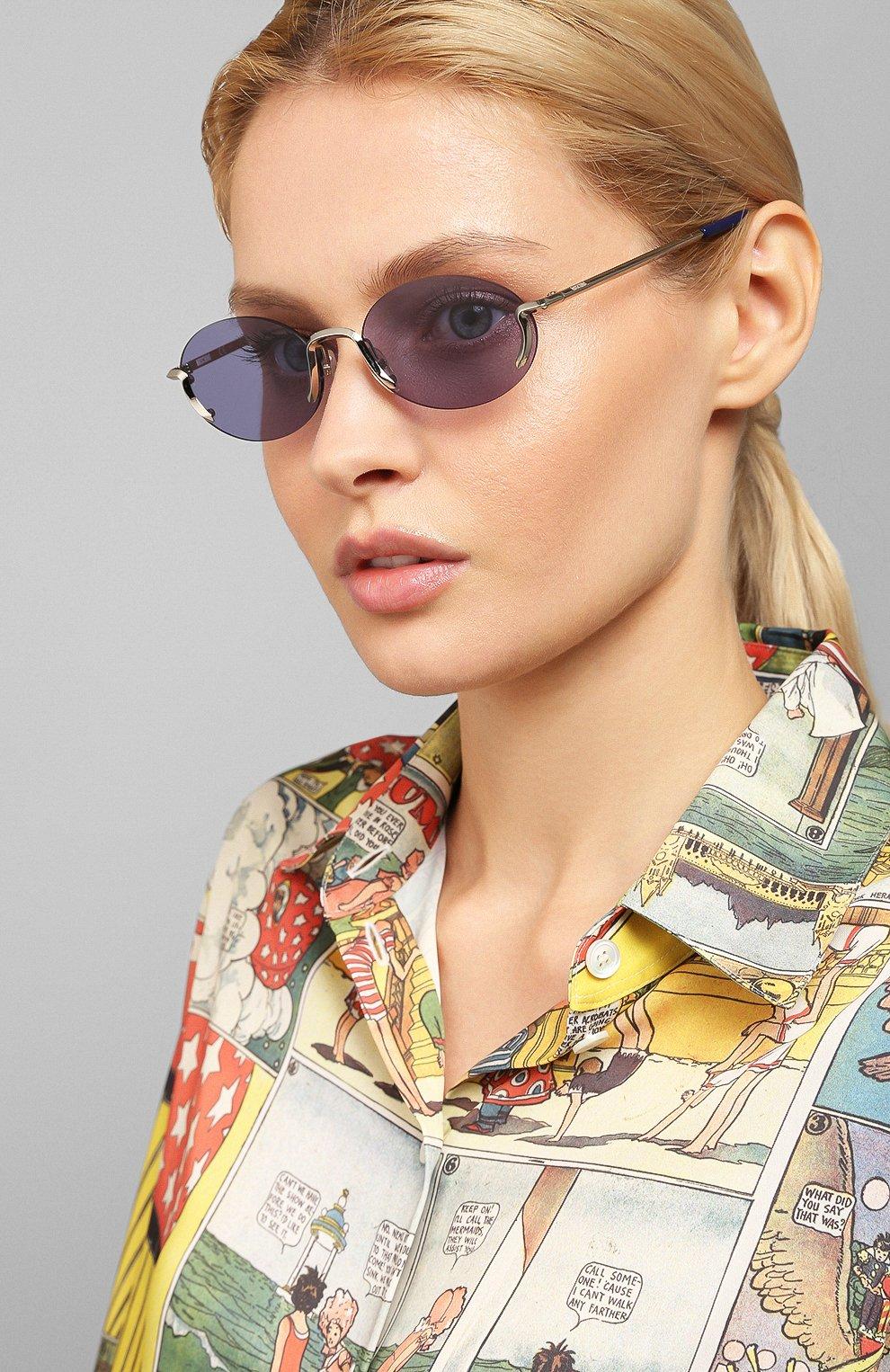 Женские солнцезащитные очки MOSCHINO синего цвета, арт. M0S055 SCB | Фото 2