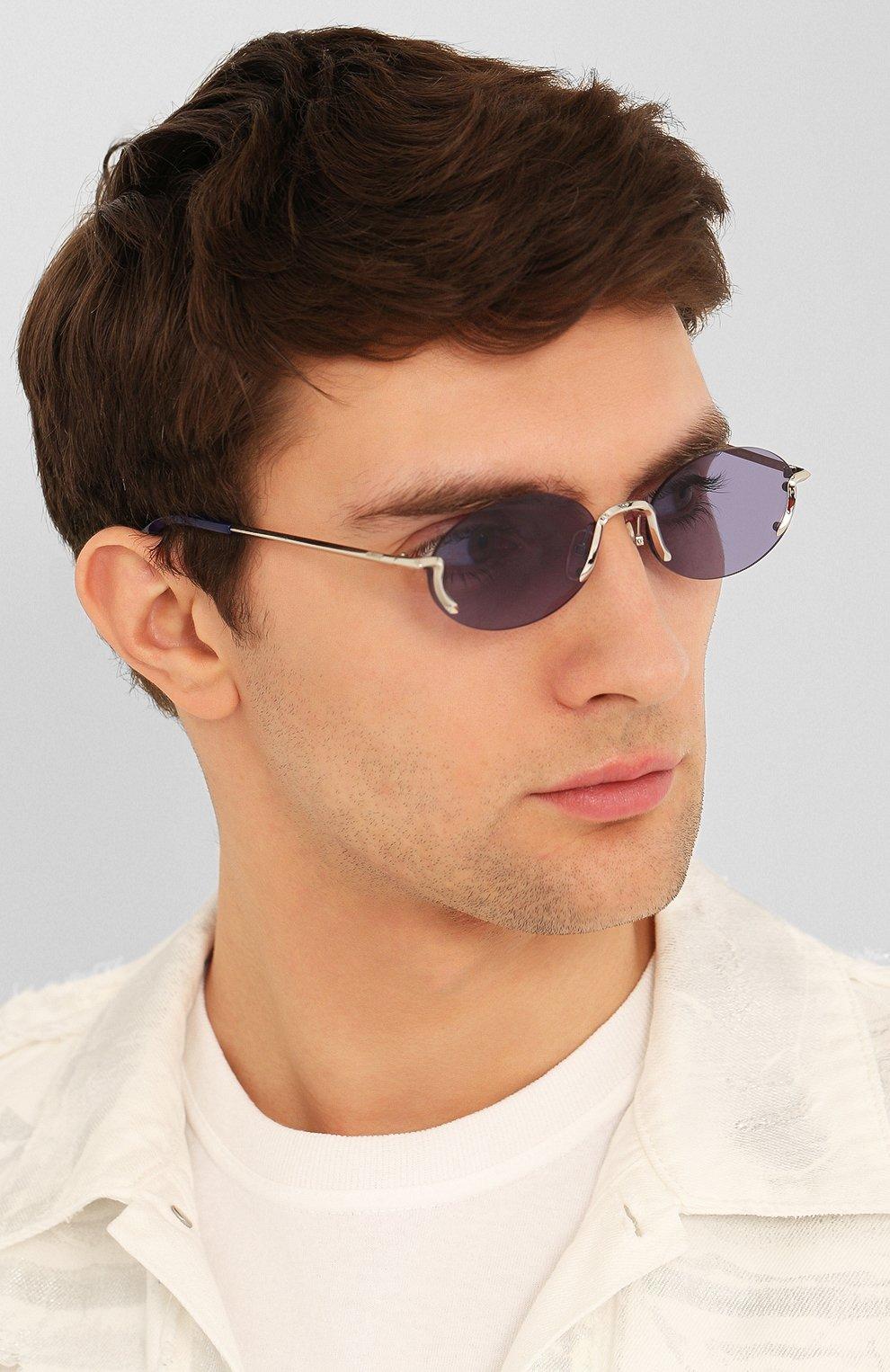 Женские солнцезащитные очки MOSCHINO синего цвета, арт. M0S055 SCB | Фото 3