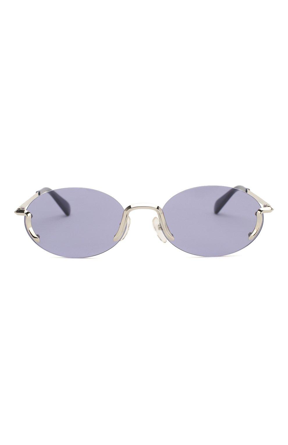 Женские солнцезащитные очки MOSCHINO синего цвета, арт. M0S055 SCB | Фото 4