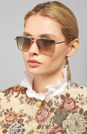 Мужские солнцезащитные очки EQUE.M серого цвета, арт. CLASSIC SHAVE/SLG | Фото 2