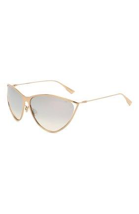 Женские солнцезащитные очки DIOR золотого цвета, арт. DI0RNEWM0TARD 000 | Фото 1