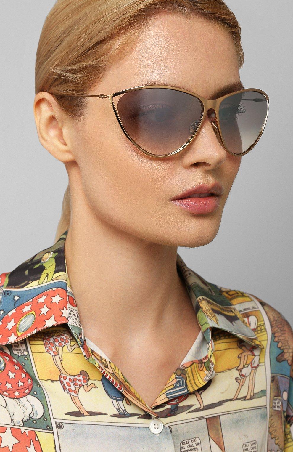 Женские солнцезащитные очки DIOR золотого цвета, арт. DI0RNEWM0TARD 000 | Фото 2