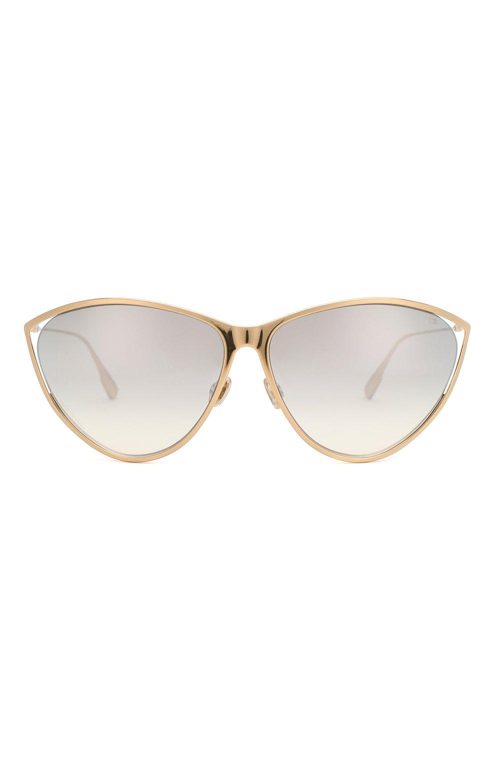Женские солнцезащитные очки DIOR золотого цвета, арт. DI0RNEWM0TARD 000 | Фото 3