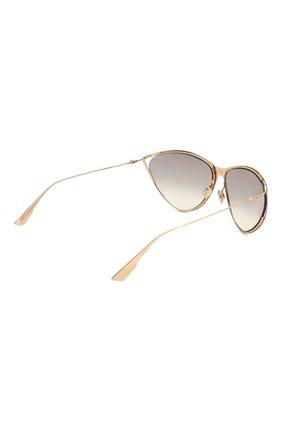 Женские солнцезащитные очки DIOR золотого цвета, арт. DI0RNEWM0TARD 000 | Фото 4