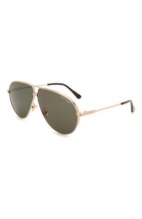 Мужские солнцезащитные очки TOM FORD черного цвета, арт. TF734-H 28N | Фото 1