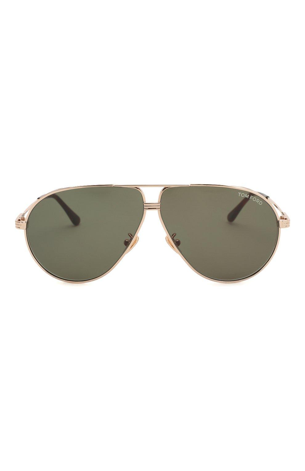 Мужские солнцезащитные очки TOM FORD черного цвета, арт. TF734-H 28N | Фото 3
