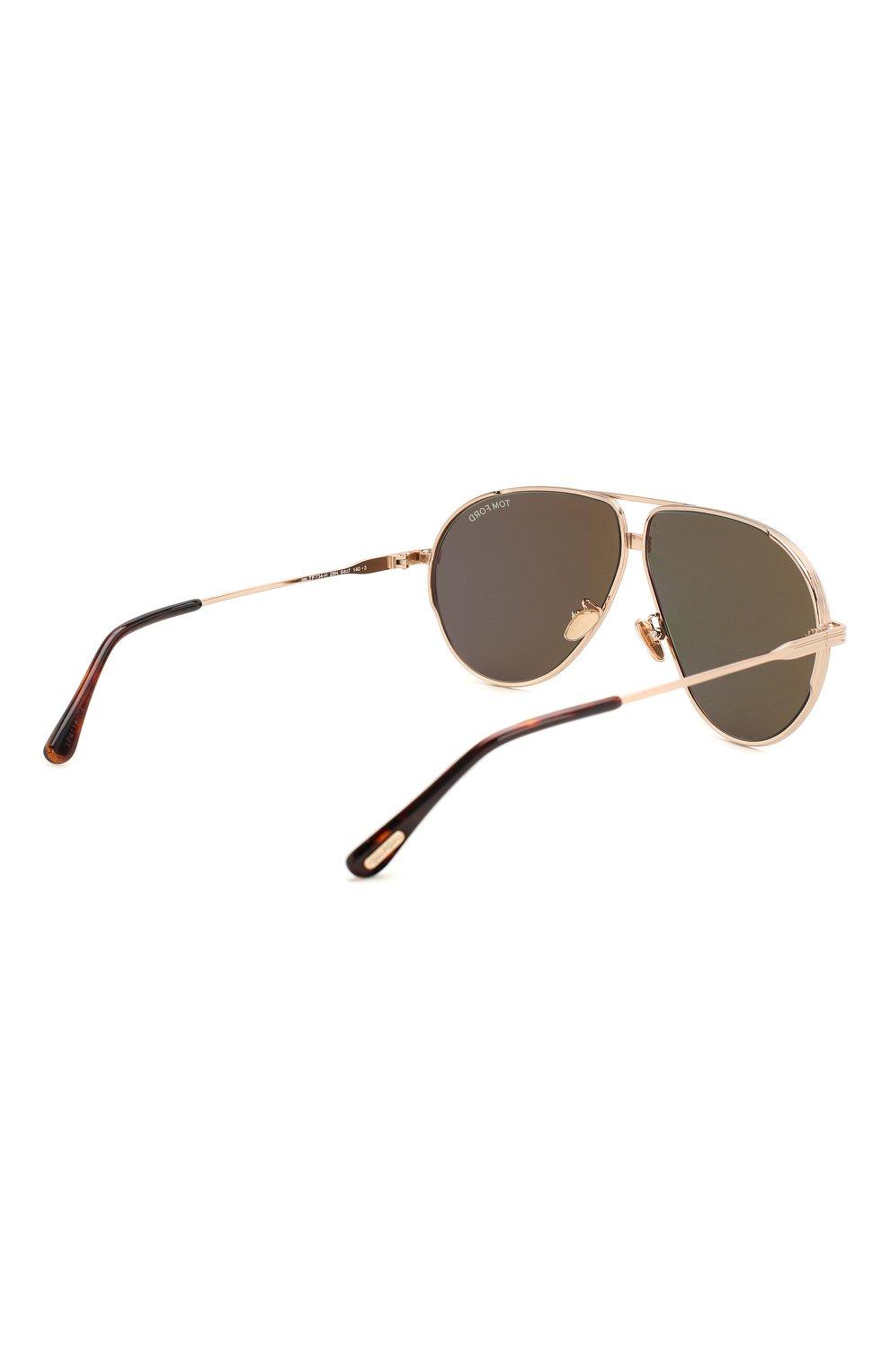 Мужские солнцезащитные очки TOM FORD черного цвета, арт. TF734-H 28N | Фото 4