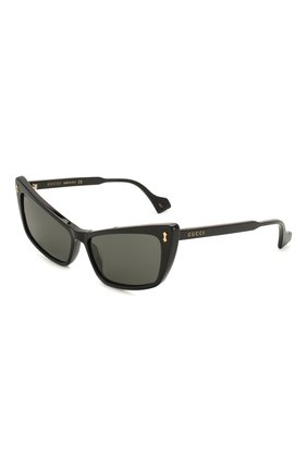 Мужские солнцезащитные очки GUCCI черного цвета, арт. GG0626 001 | Фото 1