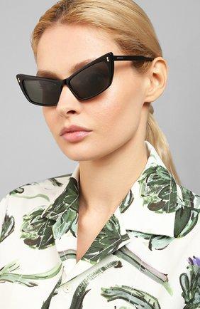 Мужские солнцезащитные очки GUCCI черного цвета, арт. GG0626 001 | Фото 2