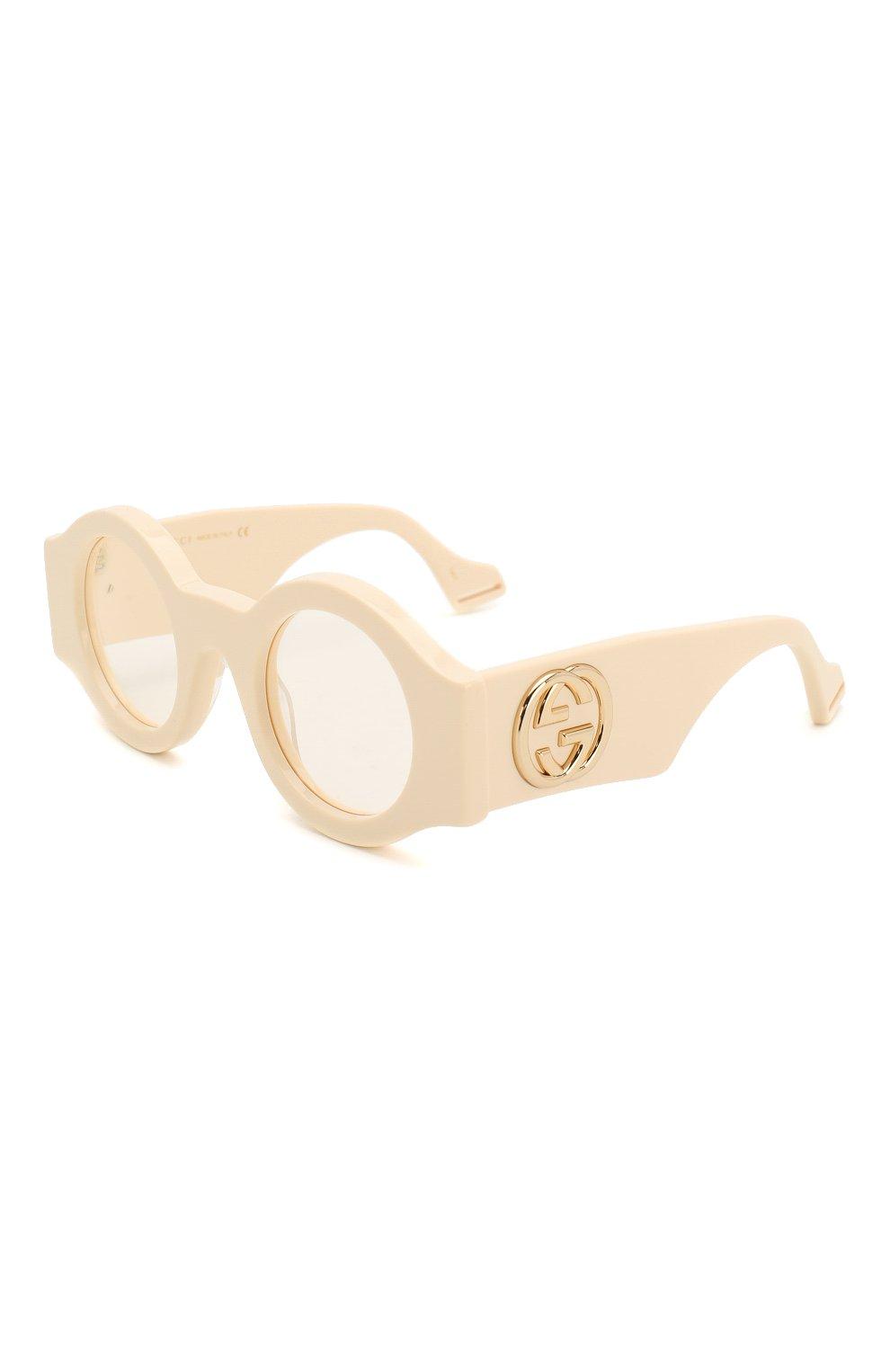 Женские солнцезащитные очки GUCCI бежевого цвета, арт. GG0629 002 | Фото 1