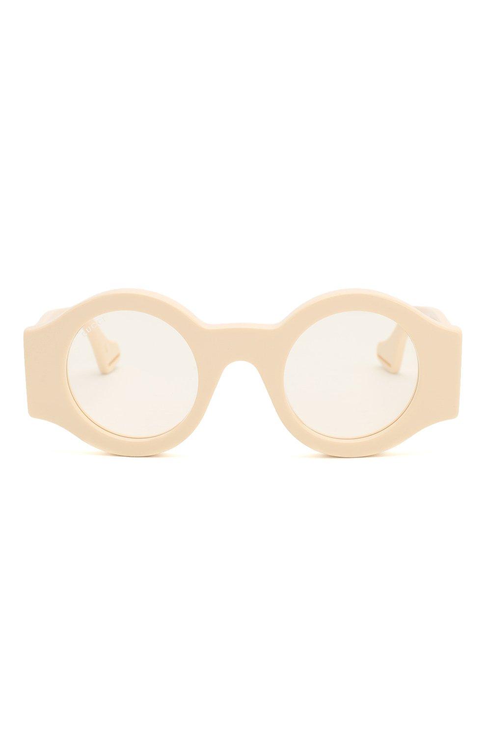 Женские солнцезащитные очки GUCCI бежевого цвета, арт. GG0629 002 | Фото 3