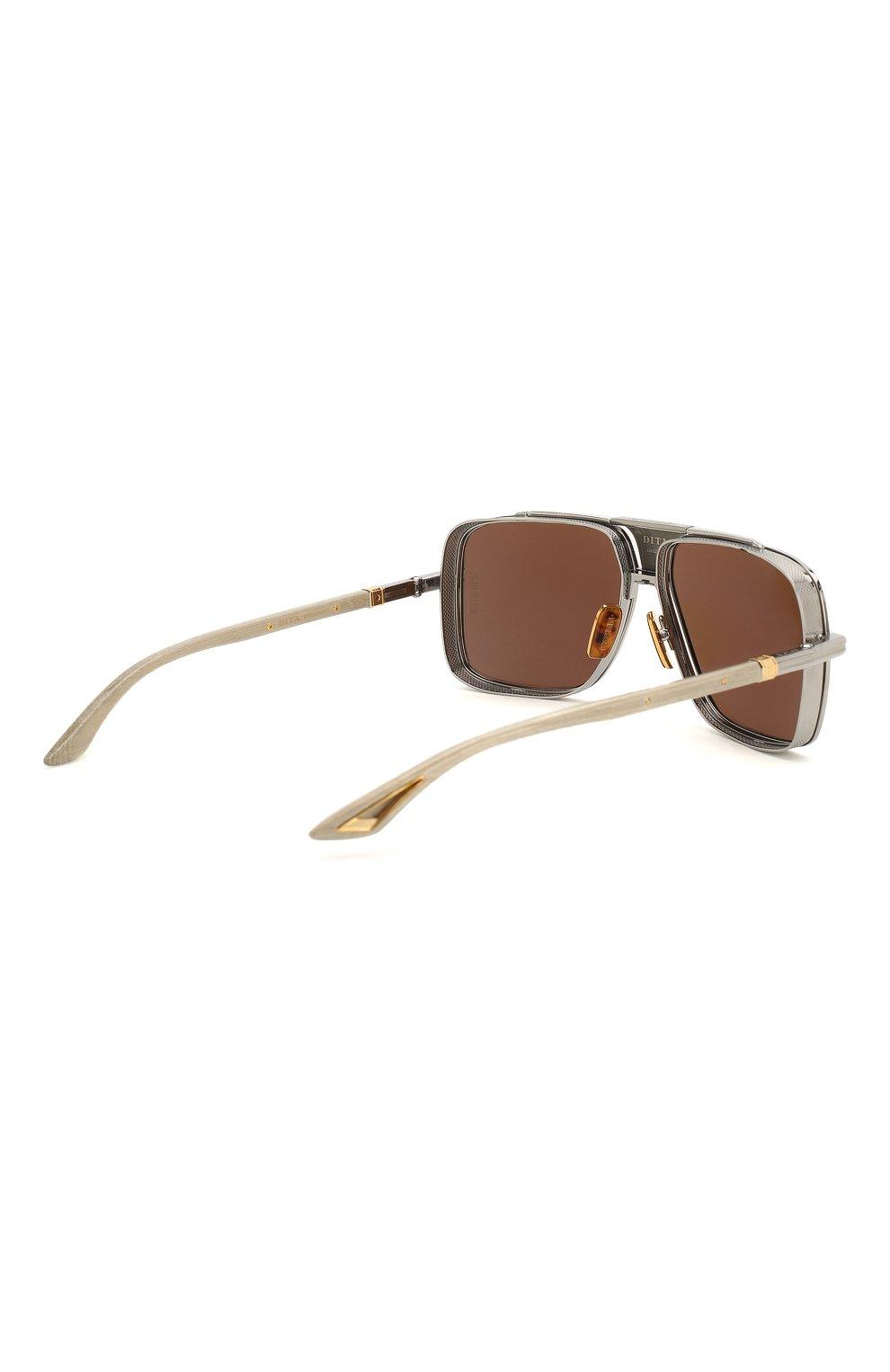 Мужские солнцезащитные очки DITA серого цвета, арт. EPLX.5/01   Фото 4