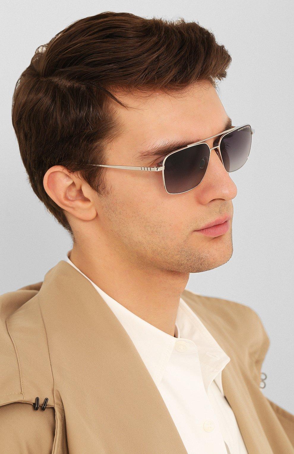 Мужские солнцезащитные очки PORSCHE DESIGN серебряного цвета, арт. 8679-C | Фото 2
