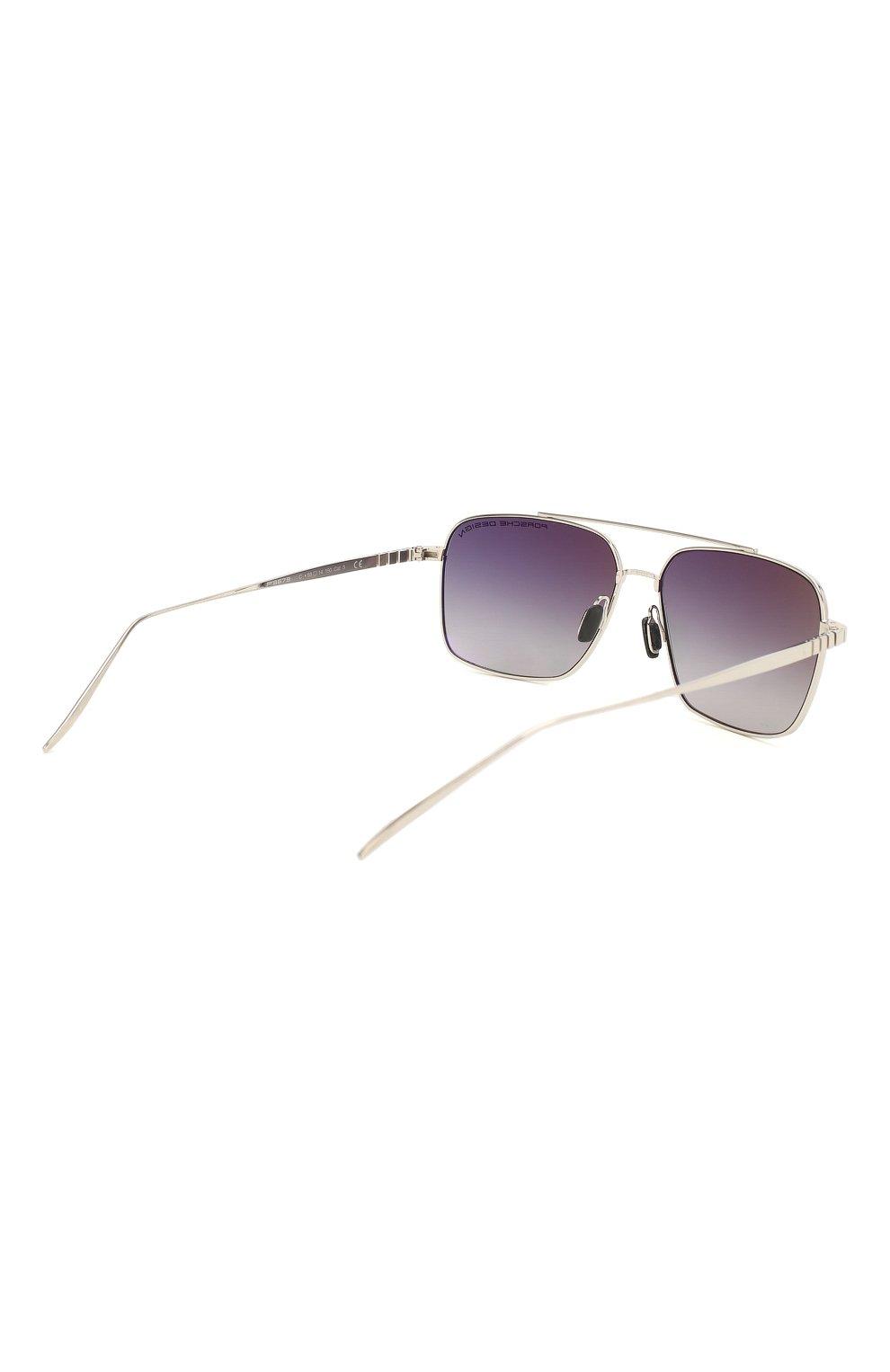 Мужские солнцезащитные очки PORSCHE DESIGN серебряного цвета, арт. 8679-C | Фото 4