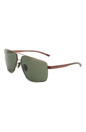 Мужские солнцезащитные очки PORSCHE DESIGN черного цвета, арт. 8681-B | Фото 1