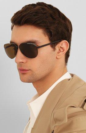 Мужские солнцезащитные очки PORSCHE DESIGN коричневого цвета, арт. 8682-B | Фото 2