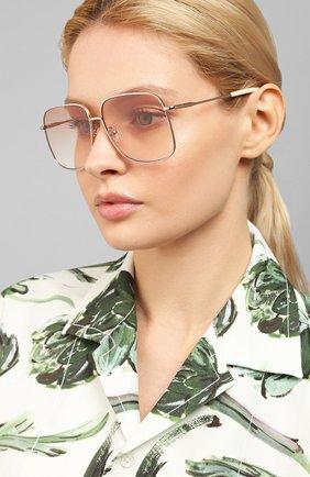 Женские солнцезащитные очки LE SPECS розового цвета, арт. EQUILIBRIUM/1926349   Фото 2 (Тип очков: С/з; Оптика Гендер: оптика-женское; Очки форма: Квадратные)