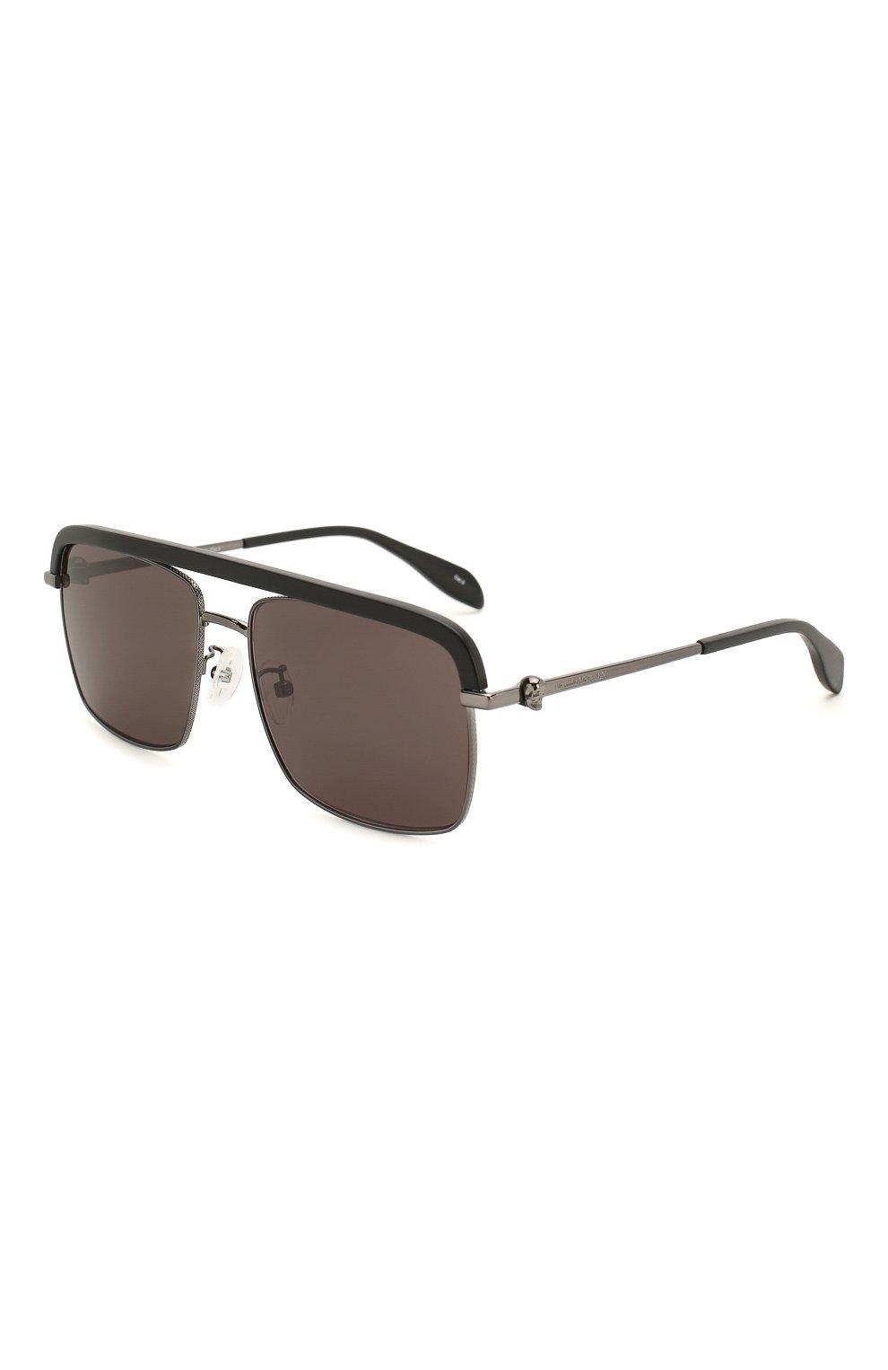 Женские солнцезащитные очки ALEXANDER MCQUEEN черного цвета, арт. AM0258S 002   Фото 1