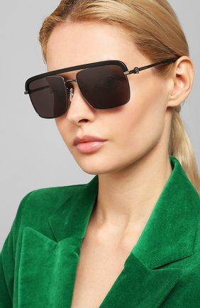 Мужские солнцезащитные очки ALEXANDER MCQUEEN черного цвета, арт. AM0258S 002 | Фото 2