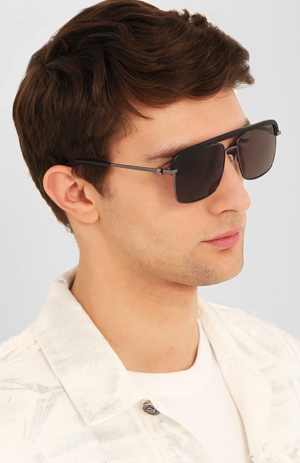 Женские солнцезащитные очки ALEXANDER MCQUEEN черного цвета, арт. AM0258S 002   Фото 3