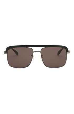 Женские солнцезащитные очки ALEXANDER MCQUEEN черного цвета, арт. AM0258S 002   Фото 4
